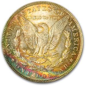 1885-O Morgan Dollar MS-63 PCGS (Bright Rev Rainbow)