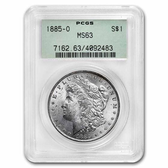1885-O Morgan Dollar MS-63 PCGS (Old Green Label)
