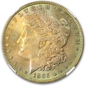 1885-O Morgan Dollar MS-63 PCGS (Soft Rainbow Obv)