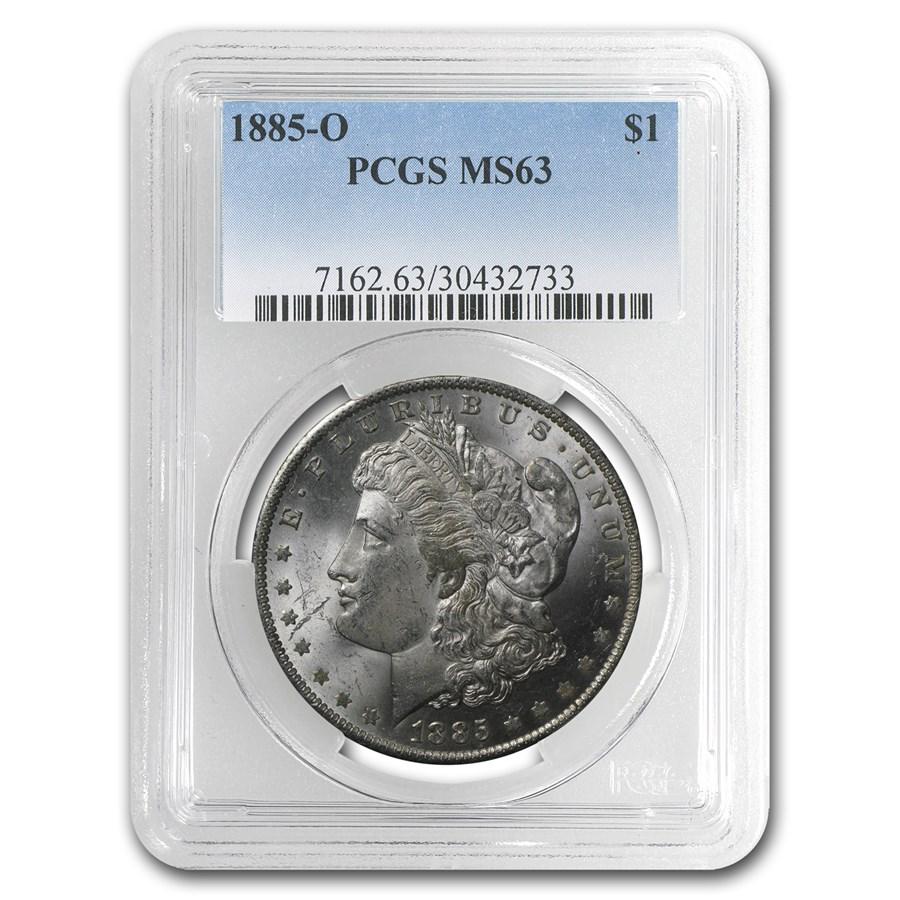 1885-O Morgan Dollar MS-63 PCGS