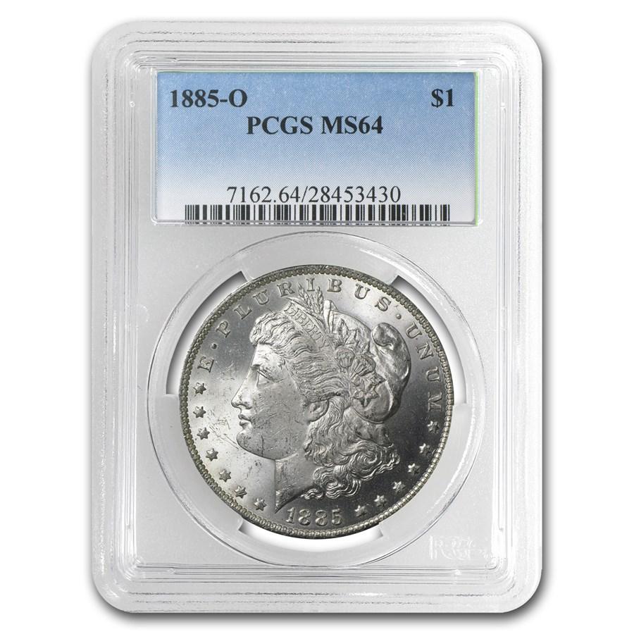 1885-O Morgan Dollar MS-64 PCGS
