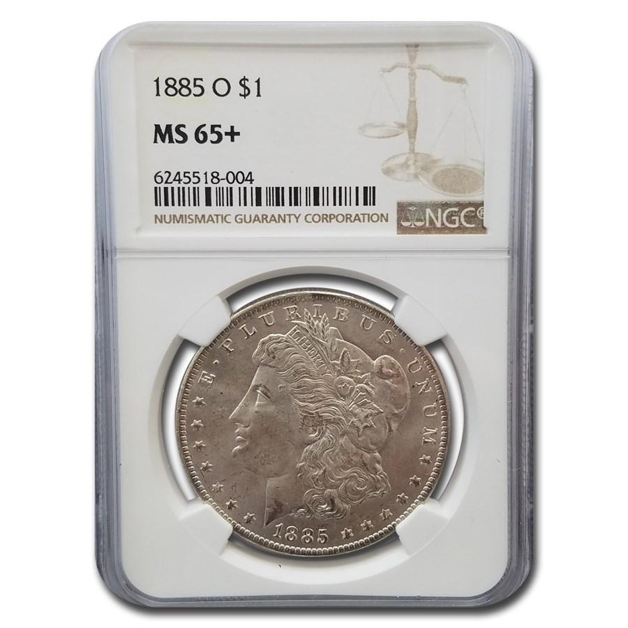 1885-O Morgan Dollar MS-65+ NGC