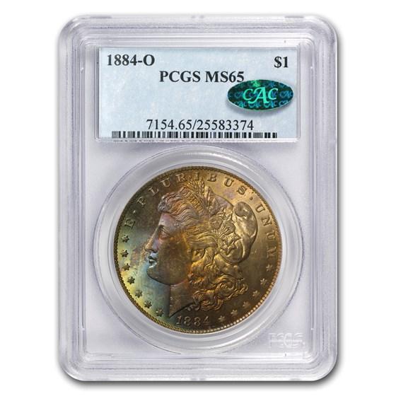1885-O Morgan Dollar MS-65 PCGS (Beautiful Toning, CAC)