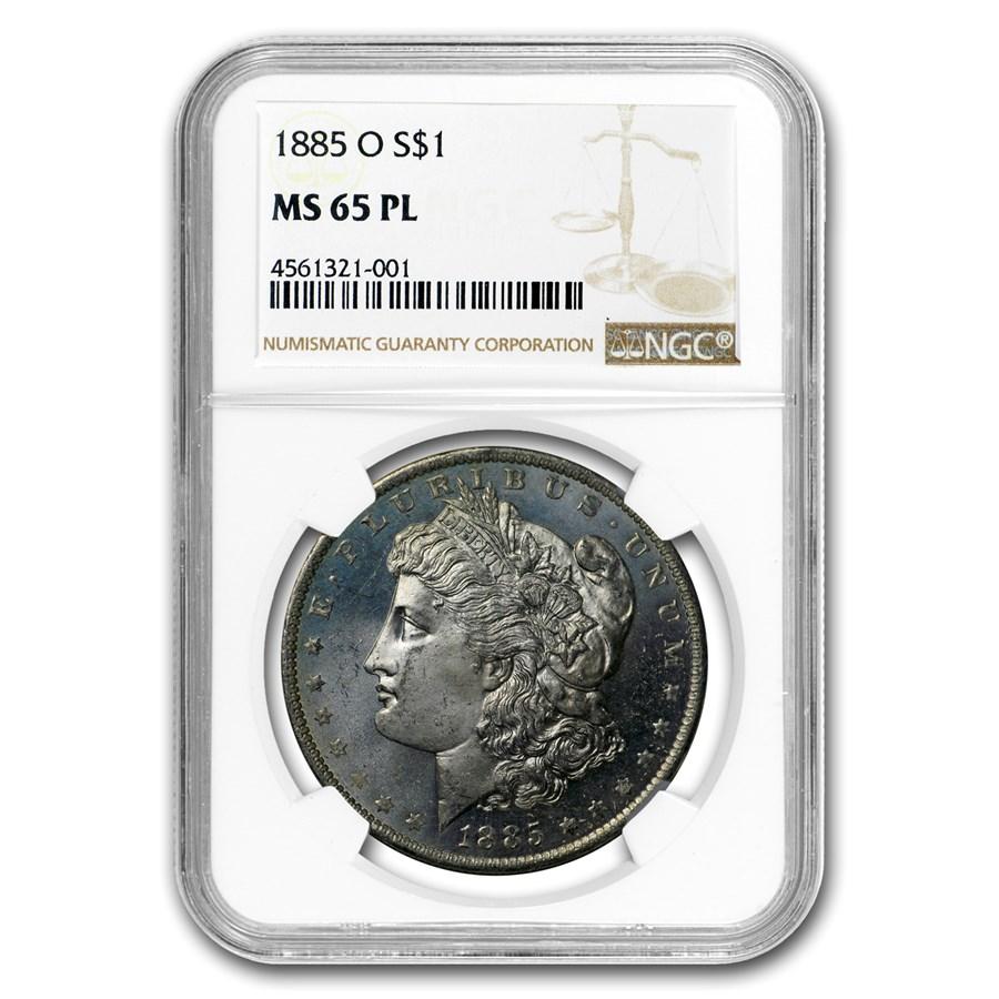 1885-O Morgan Dollar MS-65 PL Proof Like NGC