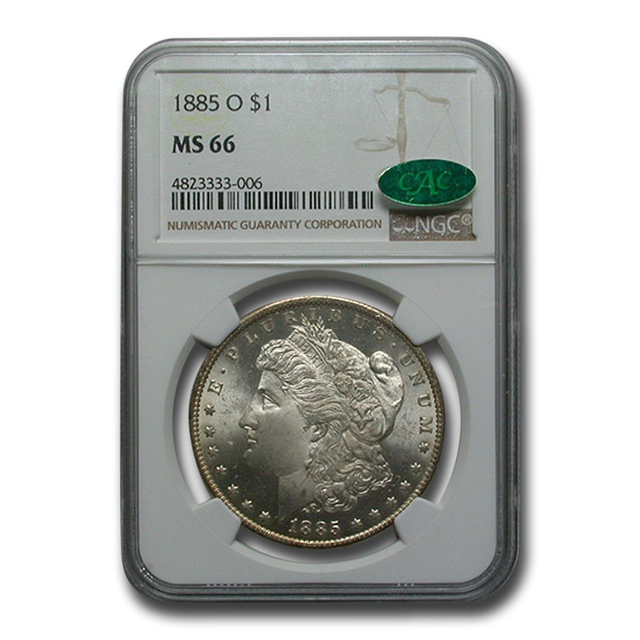 1885-O Morgan Dollar MS-66 NGC (CAC)