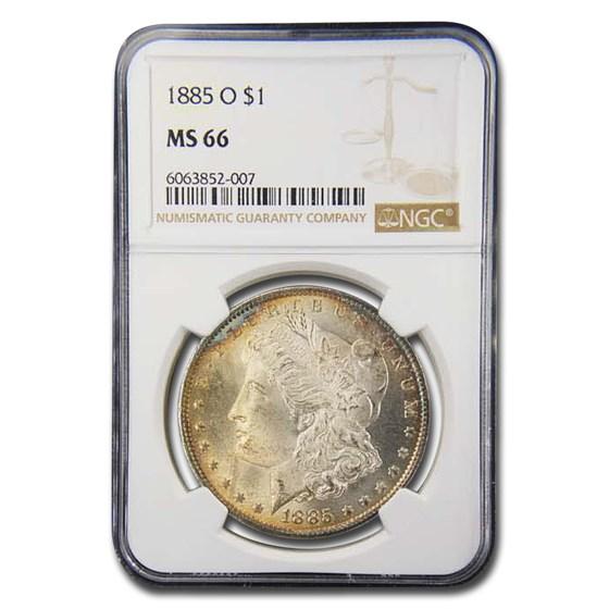 1885-O Morgan Dollar MS-66 NGC
