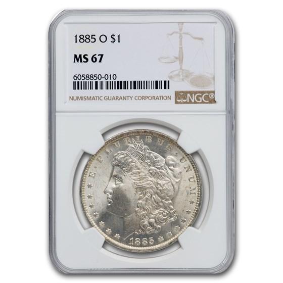 1885-O Morgan Dollar MS-67 NGC
