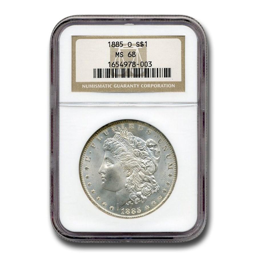 1885-O Morgan Dollar MS-68 NGC