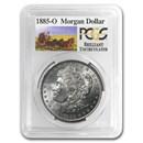 1885-O Stage Coach Morgan Dollar BU PCGS