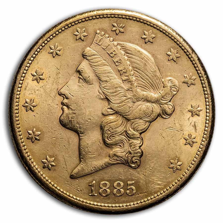 1885-S $20 Liberty Gold Double Eagle AU