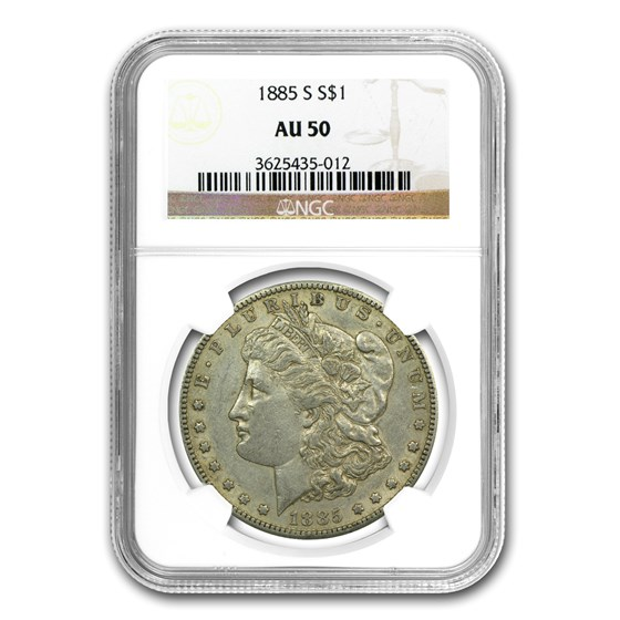 1885-S Morgan Dollar AU-50 NGC