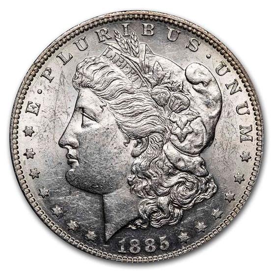 1885-S Morgan Dollar AU-58