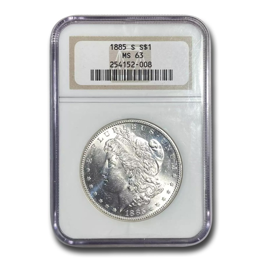 1885-S Morgan Dollar MS-63 NGC