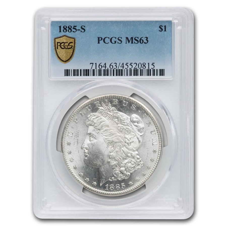 1885-S Morgan Dollar MS-63 PCGS