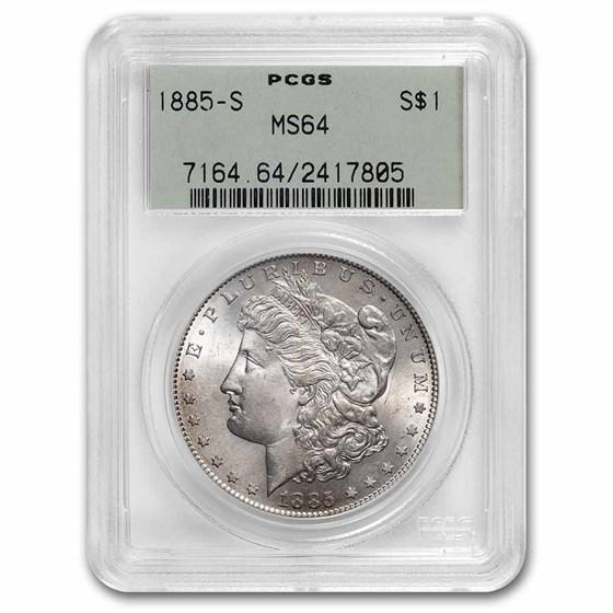 1885-S Morgan Dollar MS-64 PCGS