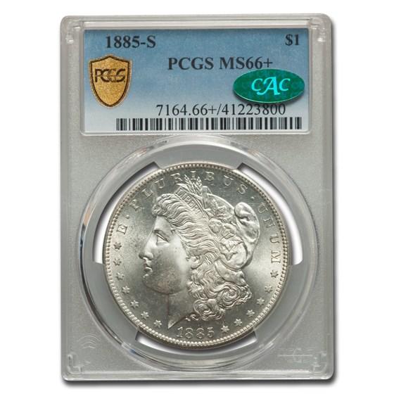 1885-S Morgan Dollar MS-66+ PCGS CAC