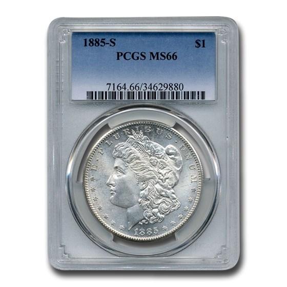 1885-S Morgan Dollar MS-66 PCGS