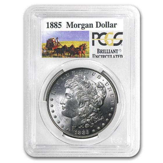 1885 Stage Coach Morgan Dollar BU PCGS