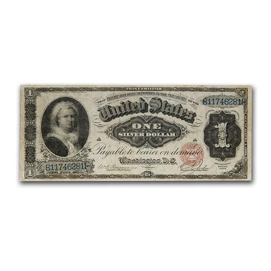 1886 $1.00 Silver Certificate Martha Washington VF (Fr#215)