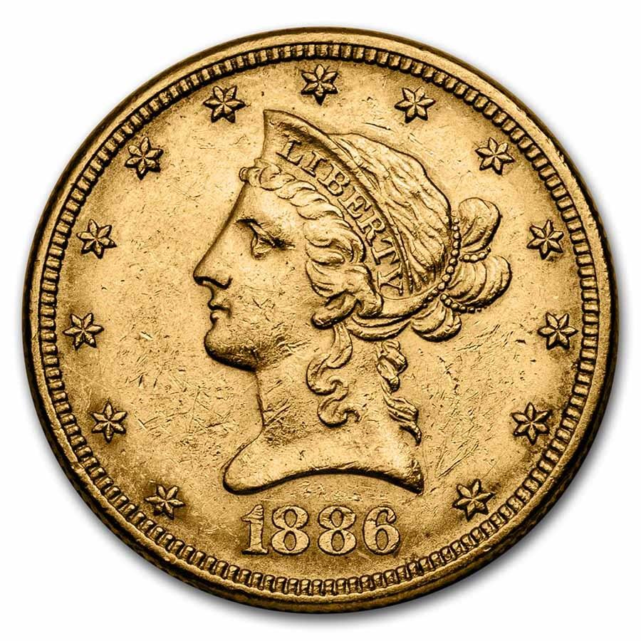 1886 $10 Liberty Gold Eagle AU