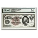 1886 $5.00 Silver Certificate U. S. Grant CU-64 PMG (Fr#263)