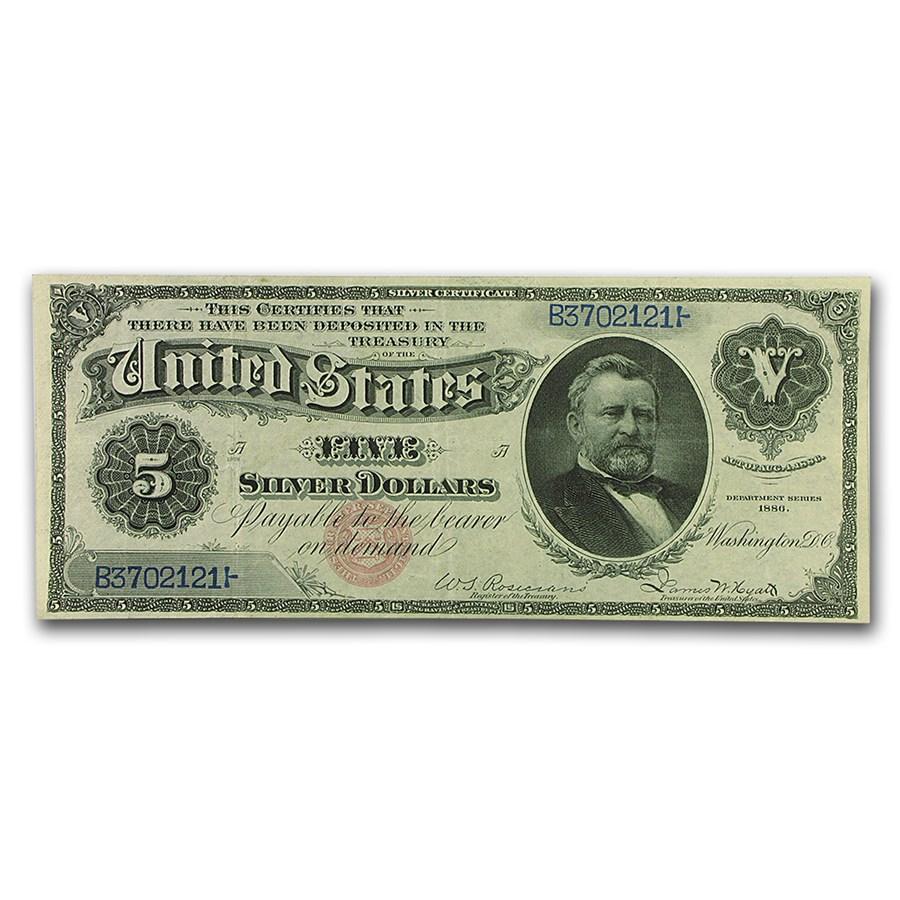 1886 $5.00 Silver Certificate U. S. Grant XF