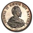 1886 German States Bavaria Silver Medal Ludwig II SP-64 PCGS