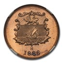 1886 H British North Borneo Bronze 1/2 Cent SP-67 NGC (Red)