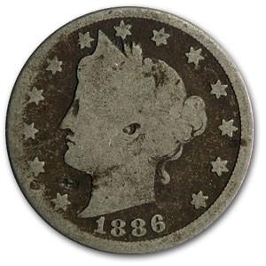 1886 Liberty Head V Nickel AG