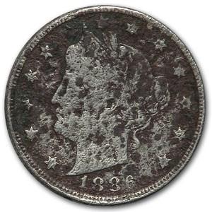 1886 Liberty Head V Nickel Fine Details