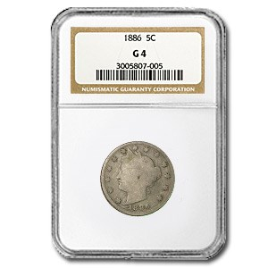 1886 Liberty Head V Nickel Good-4 NGC