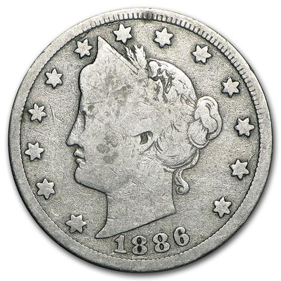 1886 Liberty Head V Nickel Good