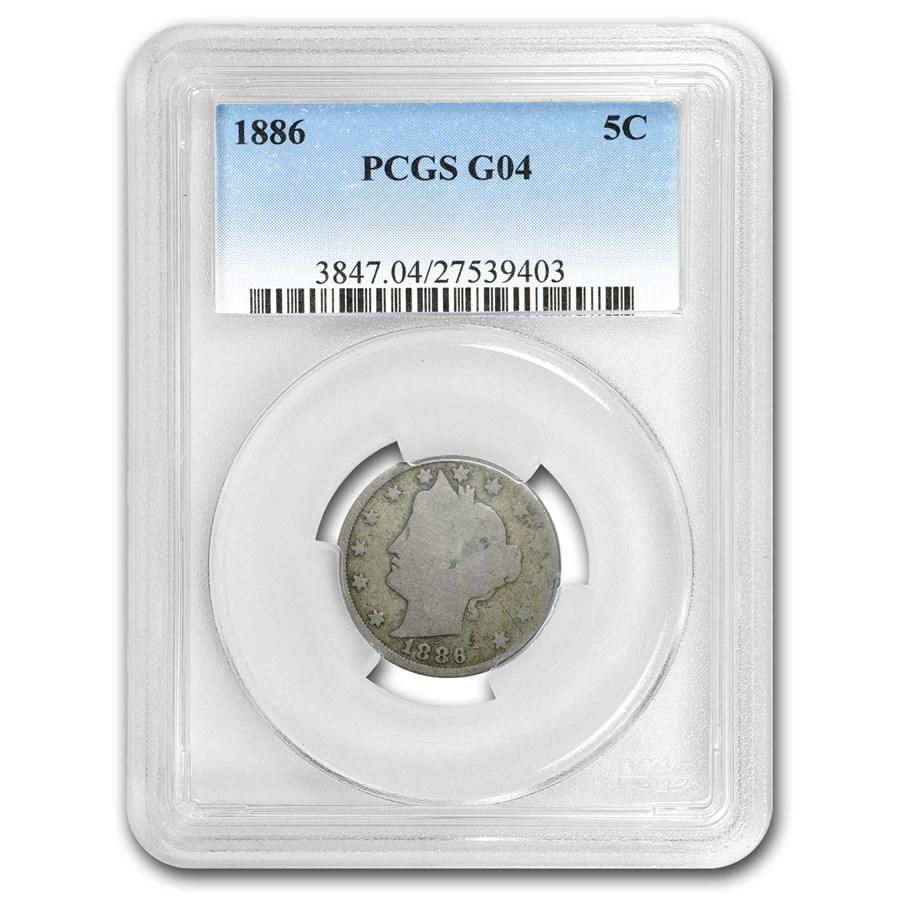 1886 Liberty Nickel Good-4 PCGS