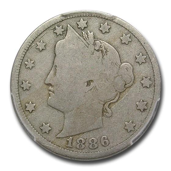 1886 Liberty Nickel Good-6 PCGS