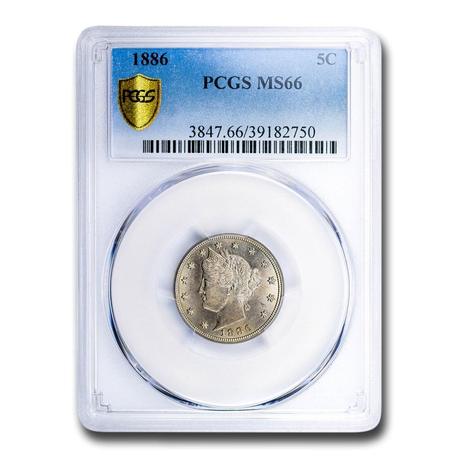 1886 Liberty Nickel MS-66 PCGS