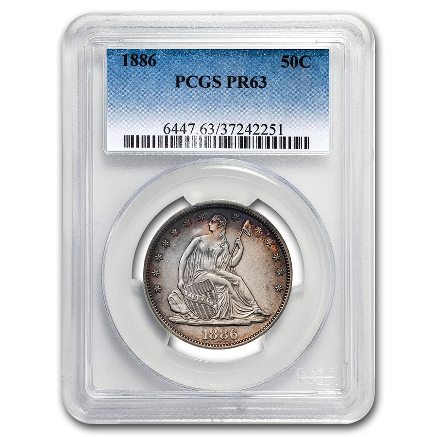 1886 Liberty Seated Half Dollar PR-63 PCGS