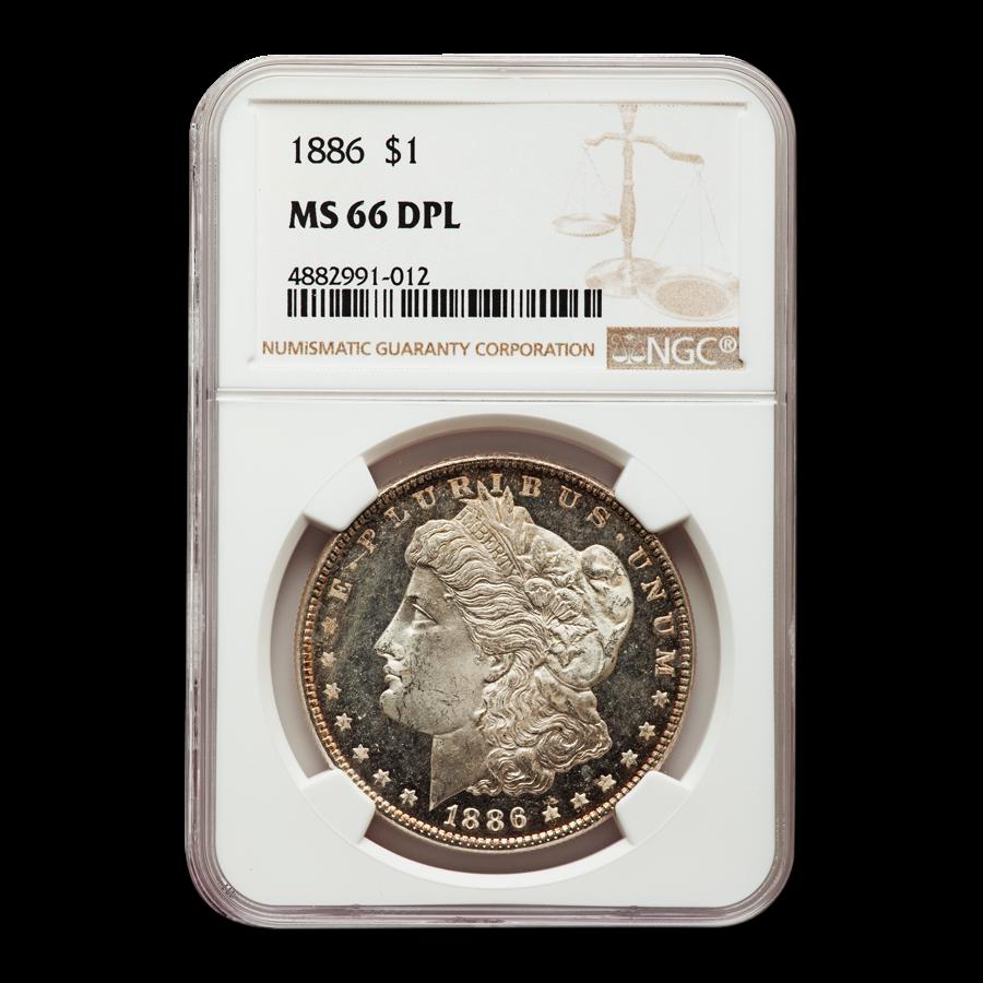 1886 Morgan Dollar DPL MS-66 NGC