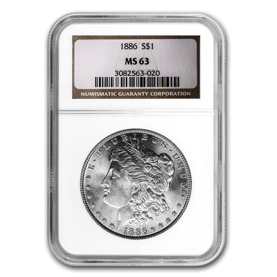 1886 Morgan Dollar MS-63 NGC