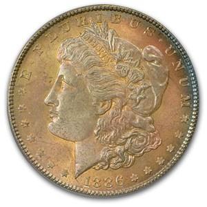 1886 Morgan Dollar MS-63 PCGS (Pink Blossom Toning)