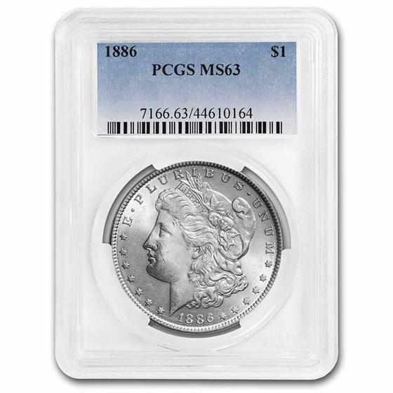 1886 Morgan Dollar MS-63 PCGS