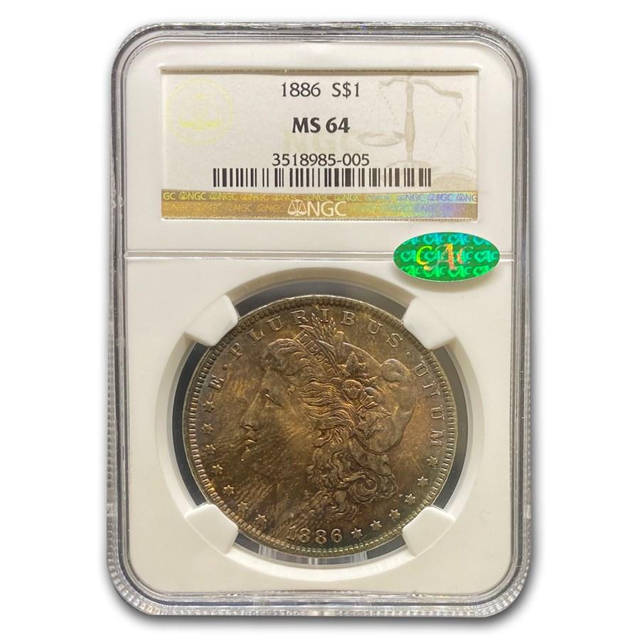 1886 Morgan Dollar MS-64 NGC CAC