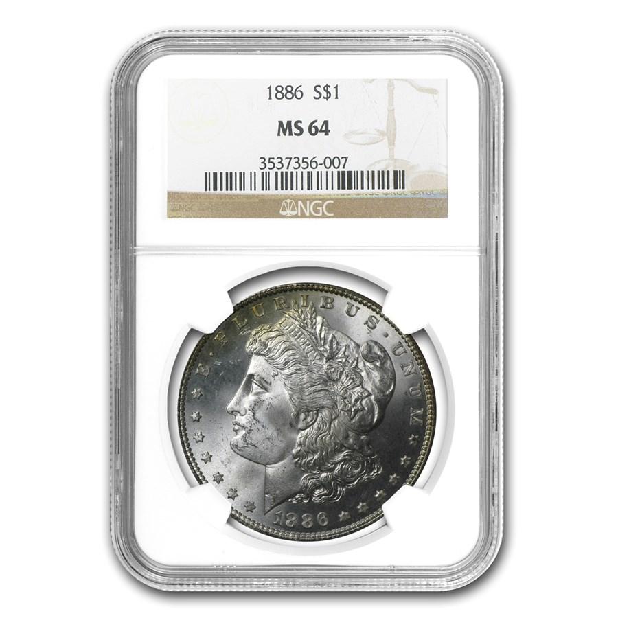 1886 Morgan Dollar MS-64 NGC