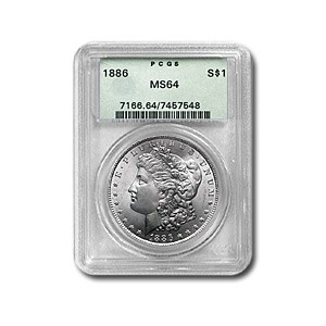 1886 Morgan Dollar MS-64 PCGS (Early Green Label)