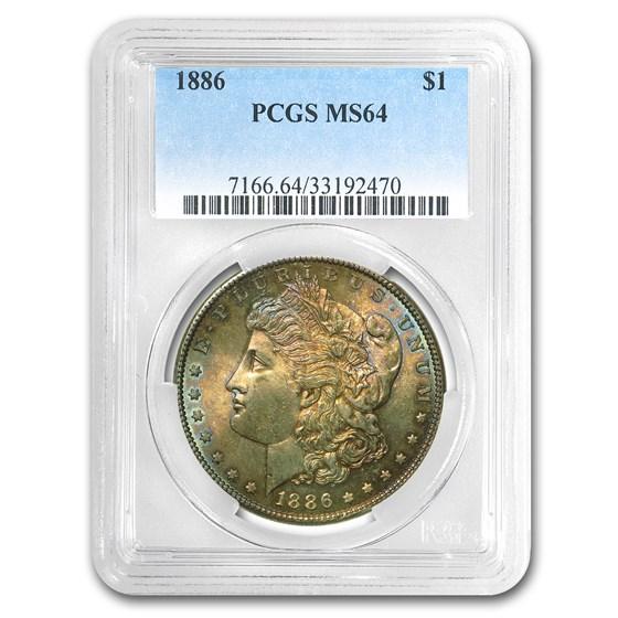 1886 Morgan Dollar MS-64 PCGS (Obv Toning)