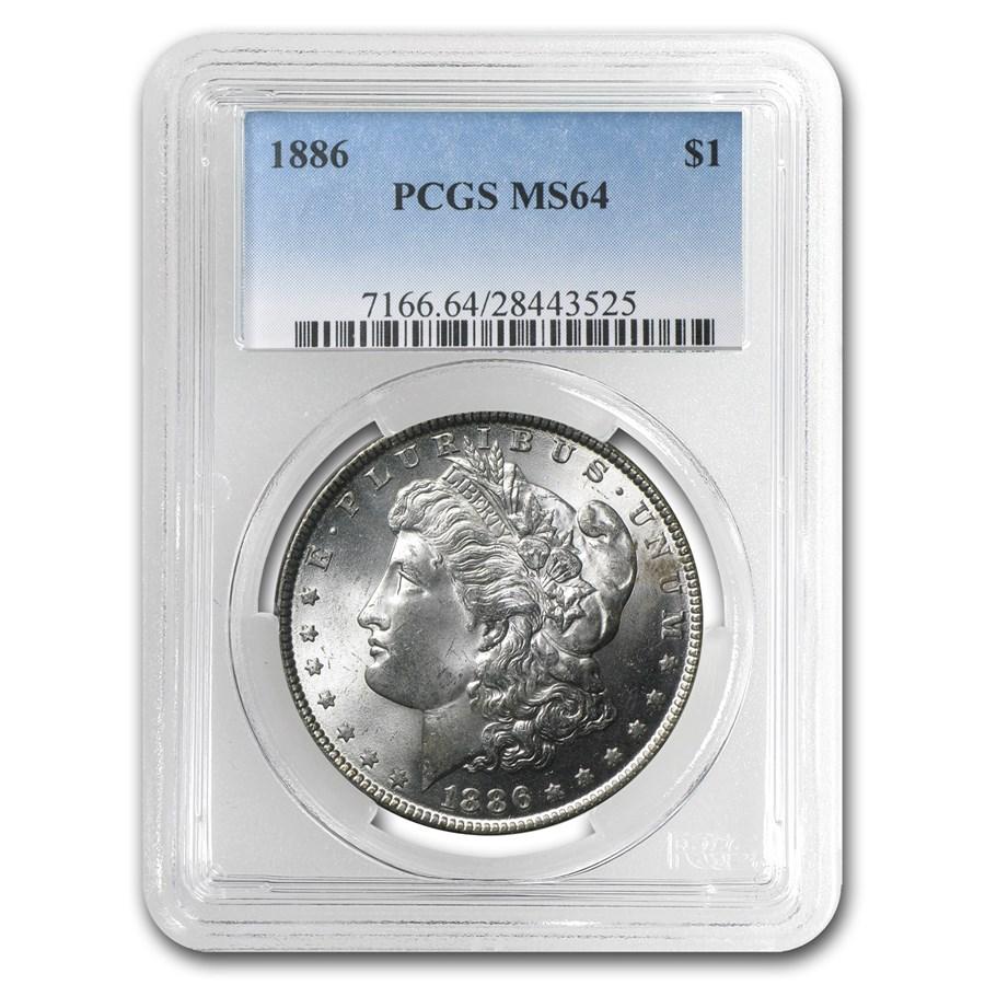 1886 Morgan Dollar MS-64 PCGS