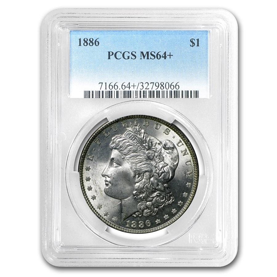 1886 Morgan Dollar MS-64+ PCGS