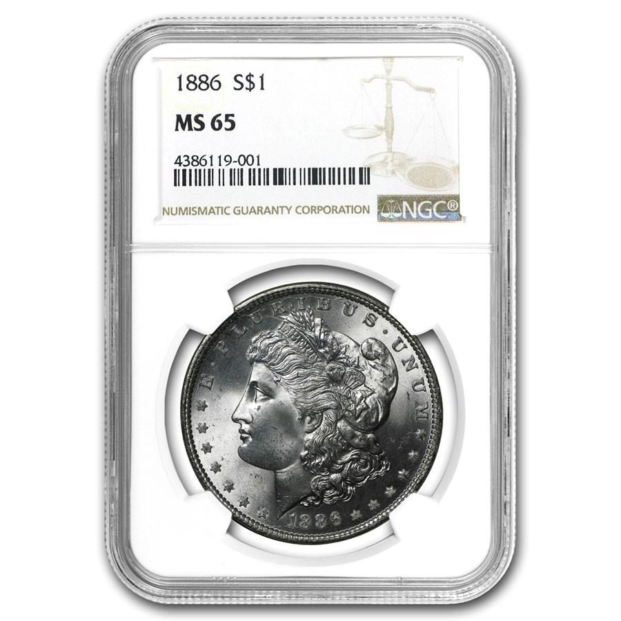 1886 Morgan Dollar MS-65 NGC