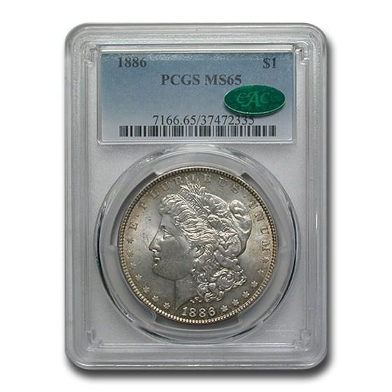 1886 Morgan Dollar MS-65 PCGS CAC