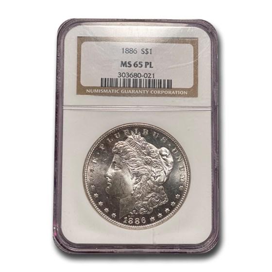 1886 Morgan Dollar MS-65 PL Proof Like NGC