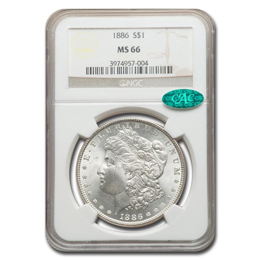 1886 Morgan Dollar MS-66 NGC CAC